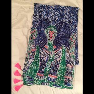 Lilly Pulitzer elephant scarf - NWOT